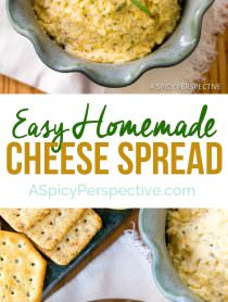 Easy Homemade Cheese Spread | ASpicyPerspective.com
