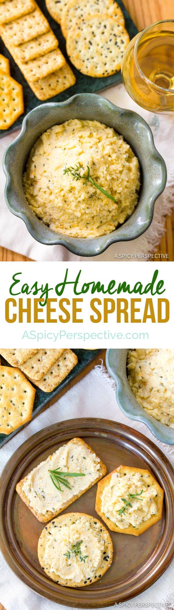 Easy Homemade Cheese Spread | ASpicyPerspective.com