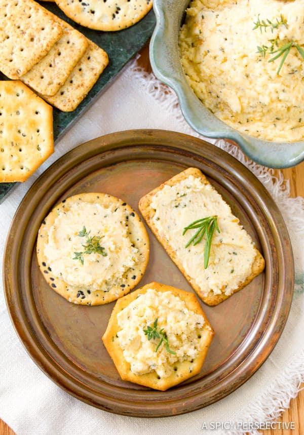 Homemade Cheese Spread | ASpicyPerspective.com