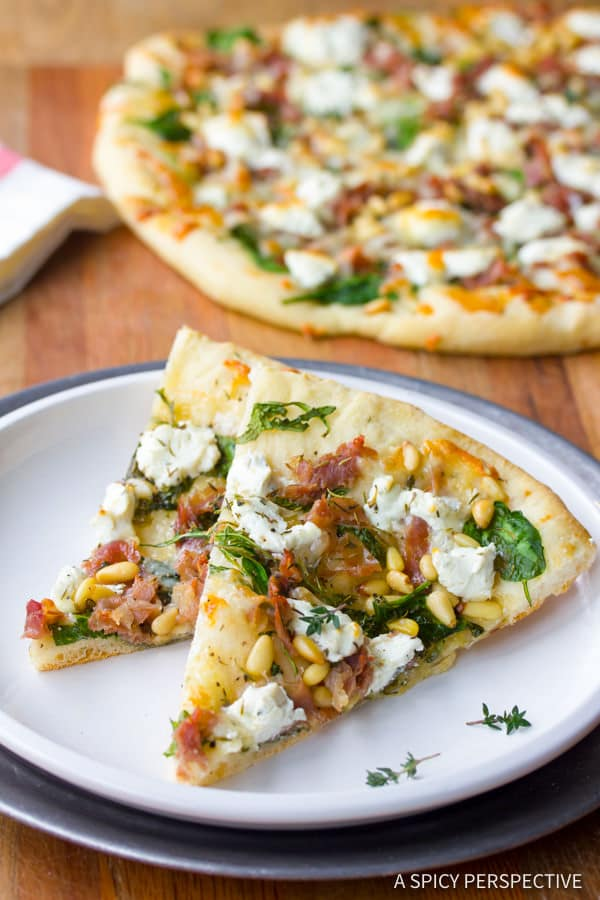 Best Fig Prosciutto Pizza Recipe | ASpicyPerspective.com