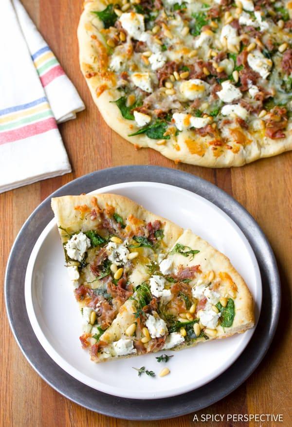 Amazing Fig Prosciutto Pizza Recipe | ASpicyPerspective.com