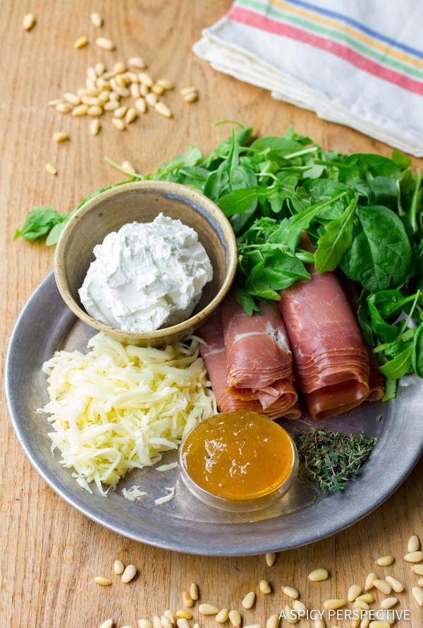 Making Fig Prosciutto Pizza Recipe | ASpicyPerspective.com