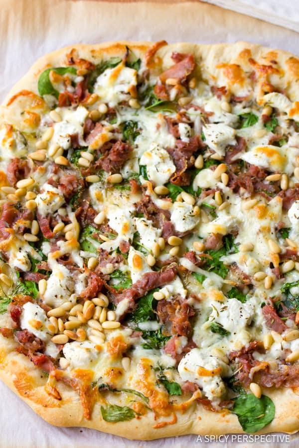 Fig Prosciutto Pizza | ASpicyPerspective.com