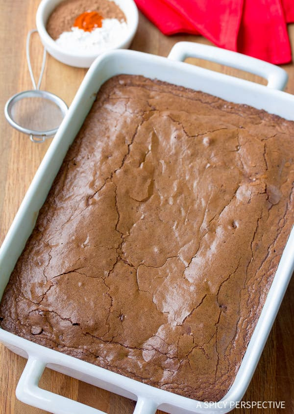 Rich Spiced Mexican Brownies Recipe | ASpicyPerspective.com