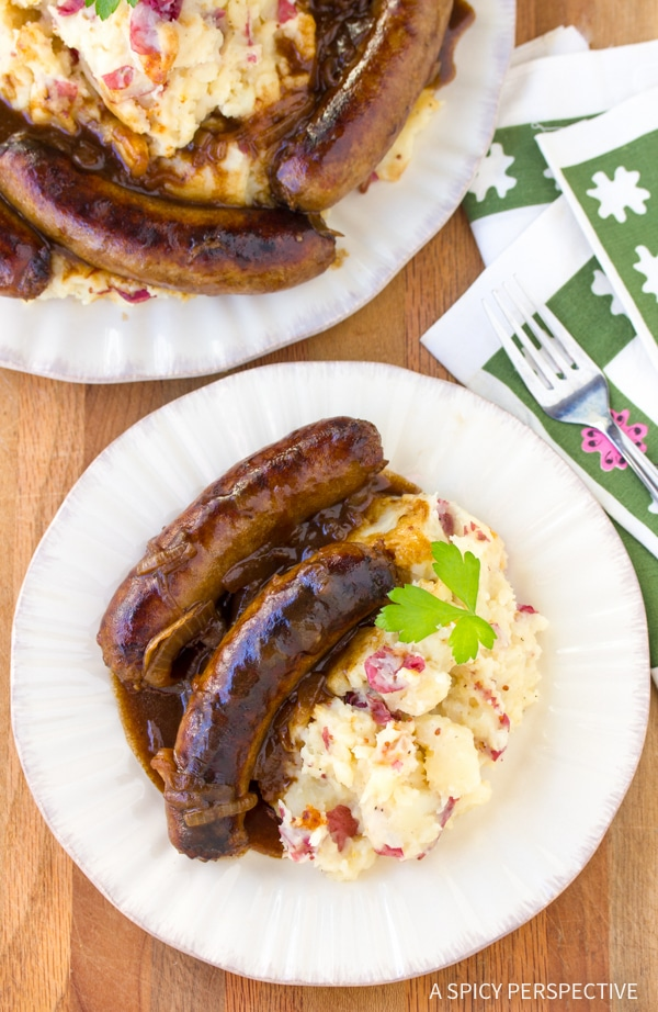 Perfect Bangers and Mash Recipe #saintpatricksday