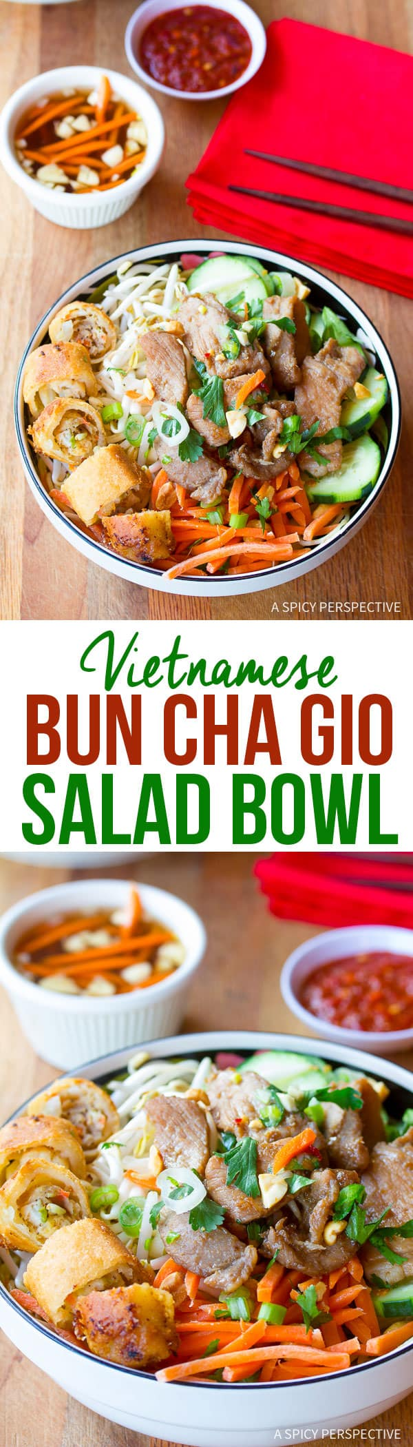 Healthy Vietnamese Bun Cha Gio Recipe (Gluten Free!) | ASpicyPerspective.com