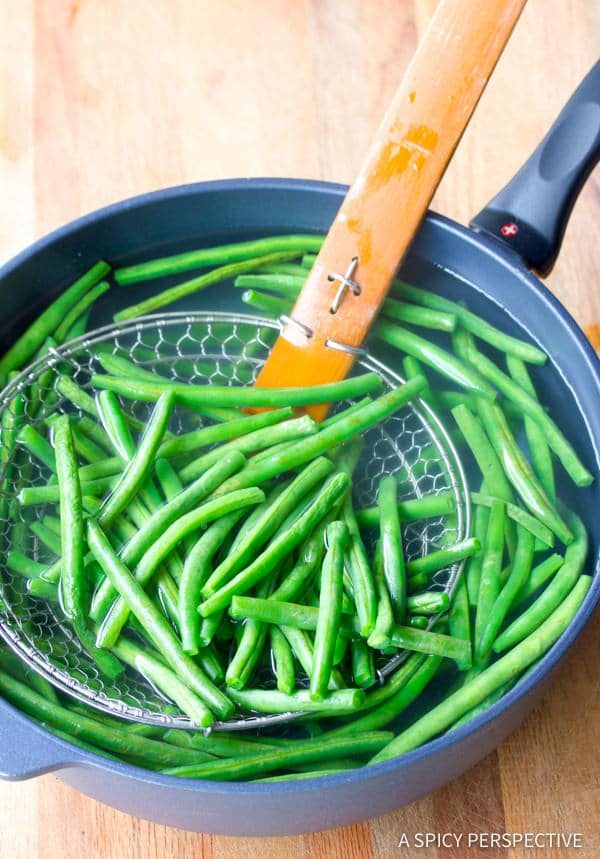 Making Haricot Vert & Mini Potatoes