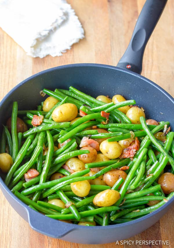 Haricot Vert and Mini Potatoes