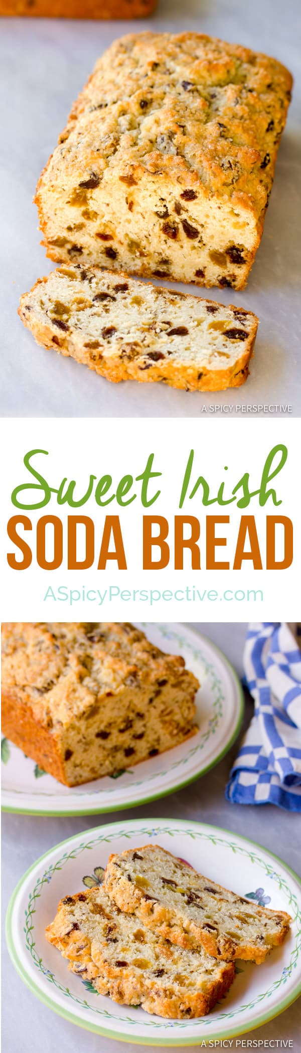 Sweet Irish Soda Bread | ASpicyPerspective.com