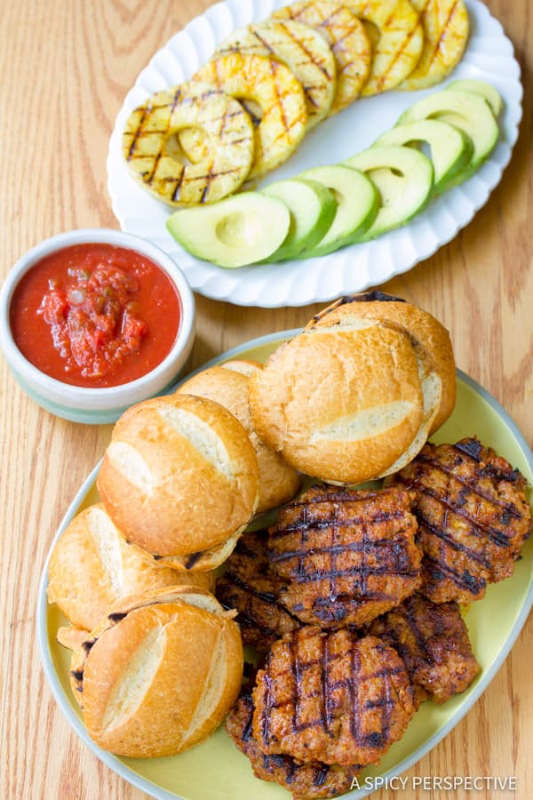 Making Pineapple Chorizo Burgers | ASpicyPerspective.com