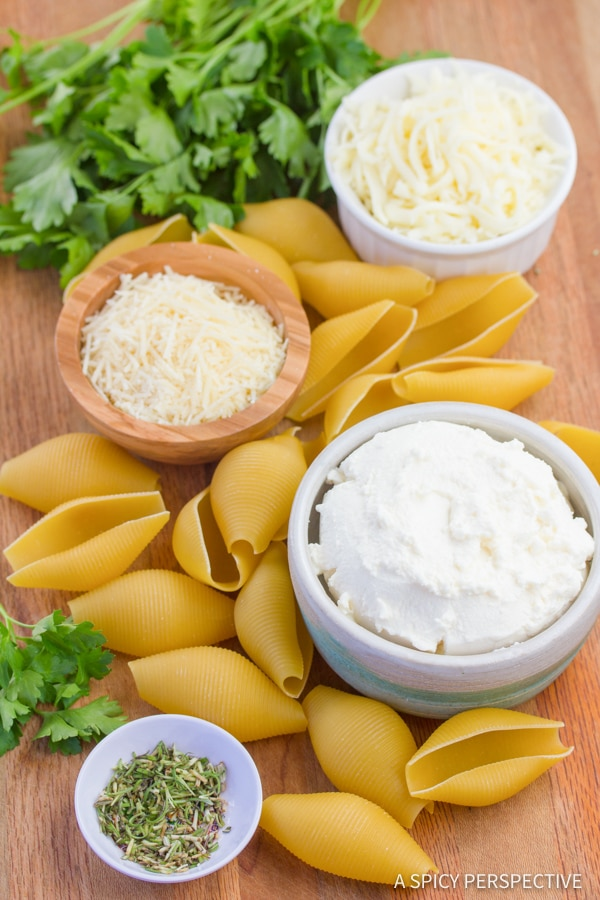 Making Classic Ricotta Stuffed Shells Recipe | ASpicyPerspective.com