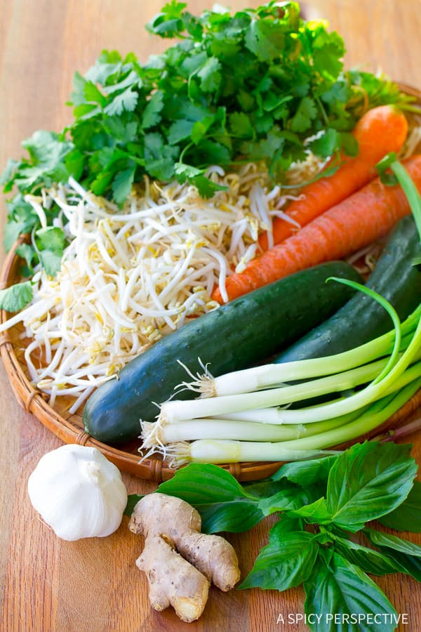 Vegetables #ASpicyPerspective #BunCha #ChaGio #BunChaGio #BunChaRecipe #Vietnamese #SaladBowl