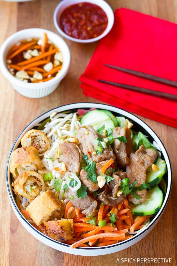 AWESOME Vietnamese Bun Cha Gio Recipe (Gluten Free!)| ASpicyPerspective.com