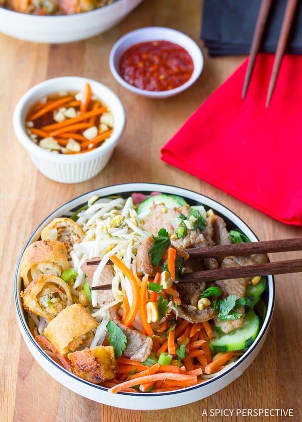 Favorite Vietnamese Bun Cha Gio Recipe | ASpicyPerspective.com
