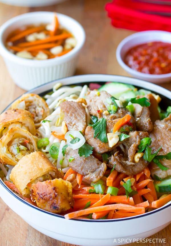 Vietnamese Bun Cha Gio Recipe | ASpicyPerspective.com