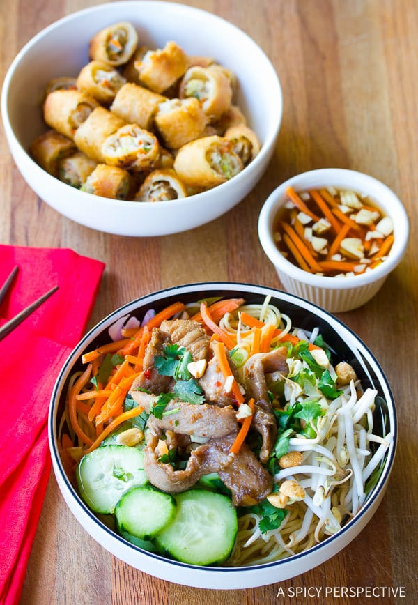 Fabulous Vietnamese Bun Cha Gio Recipe | ASpicyPerspective.com