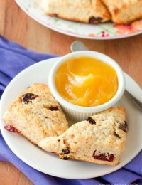 Walnut Cherry Scones | ASpicyPerspective.com