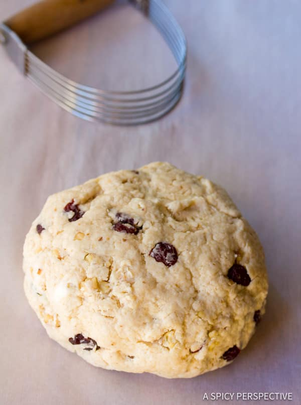 Making Walnut Cherry Scones | ASpicyPerspective.com