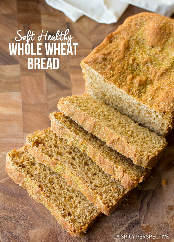 Soft Whole Wheat Bread | ASpicyPerspective.com