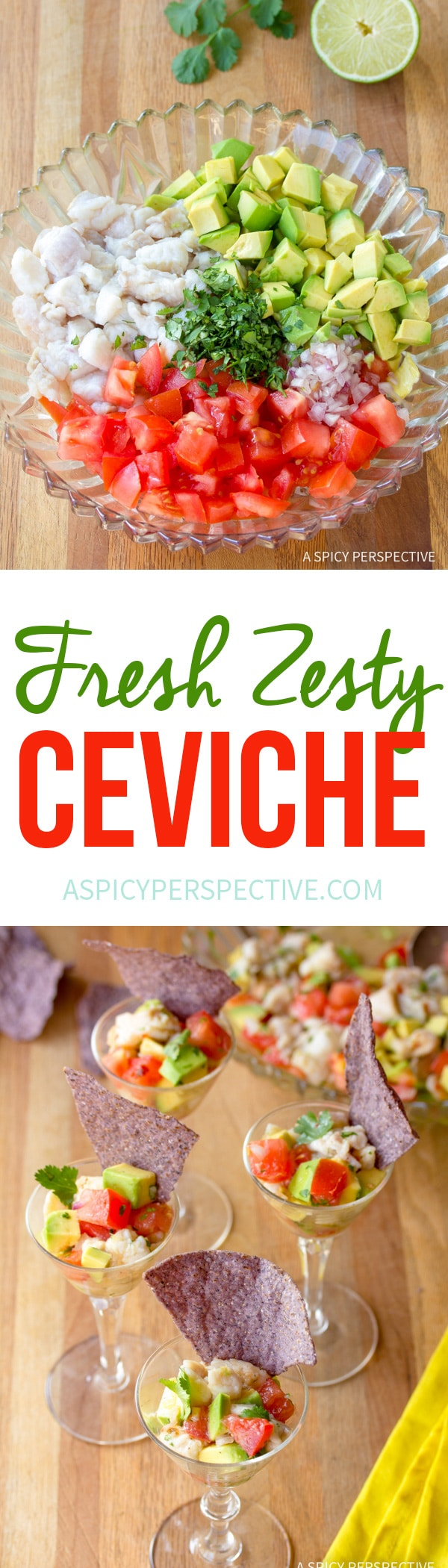 Zesty Classic Ceviche Recipe #healthy #lowcarb #paleo