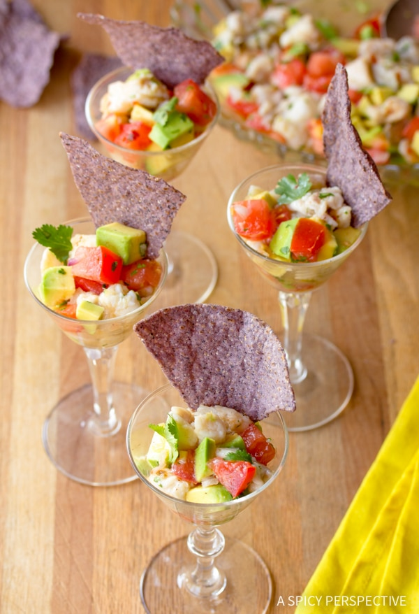 Perfect Ceviche Recipe #healthy #lowcarb #paleo