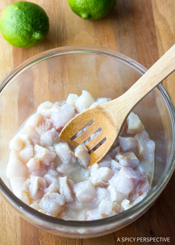 Simple Classic Ceviche Recipe #healthy #lowcarb #paleo
