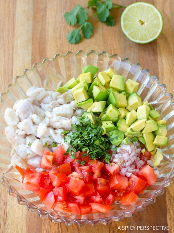 Making Classic Ceviche Recipe #healthy #lowcarb #paleo