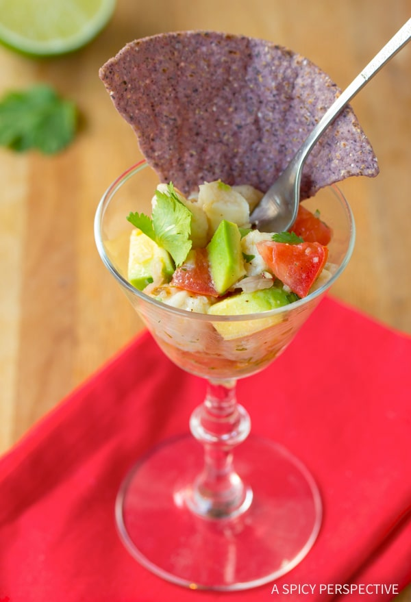 Fresh Classic Ceviche Recipe #healthy #lowcarb #paleo