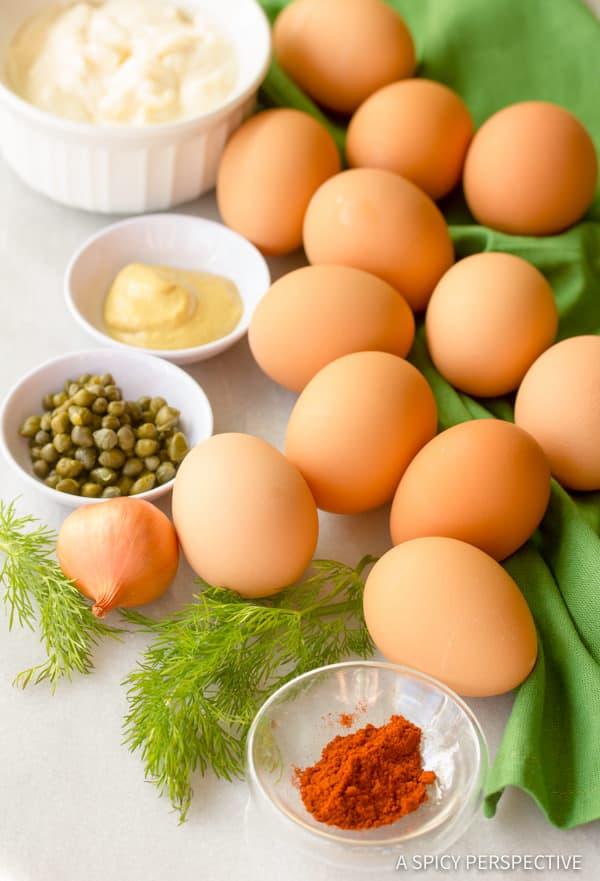 Making Angel Eggs: Classic Deviled Eggs Recipe | ASpicyPerspective.com