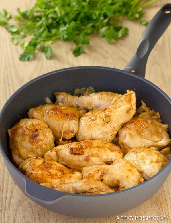 Classic Hungarian Chicken Paprikash (Paprikas)   ASpicyPerspective.com