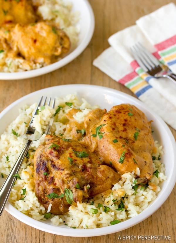 Amazing Hungarian Chicken Paprikash (Paprikas)   ASpicyPerspective.com