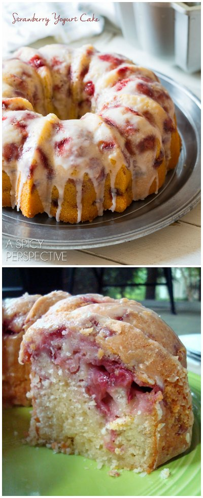 The most amazing Fresh Strawberry Yogurt Cake you will ever taste!