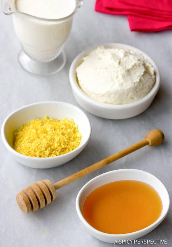 Vibrant Berry Crostata with Lemon-Honey Ricotta Cream | ASpicyPerspective.com