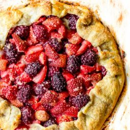 Berry Crostata with Lemon-Honey Ricotta Cream | ASpicyPerspective.com