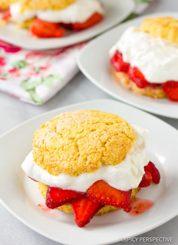 Dazzling Rustic Strawberry Shortcakes Recipe | ASpicyPerspective.com