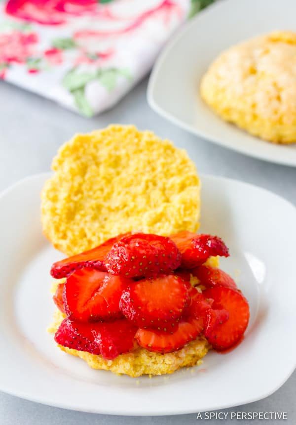 Amazing Rustic Strawberry Shortcakes Recipe | ASpicyPerspective.com