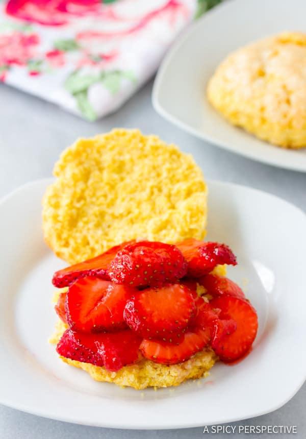 Amazing Rustic Strawberry Shortcakes Recipe | ASpicyPerspective.com