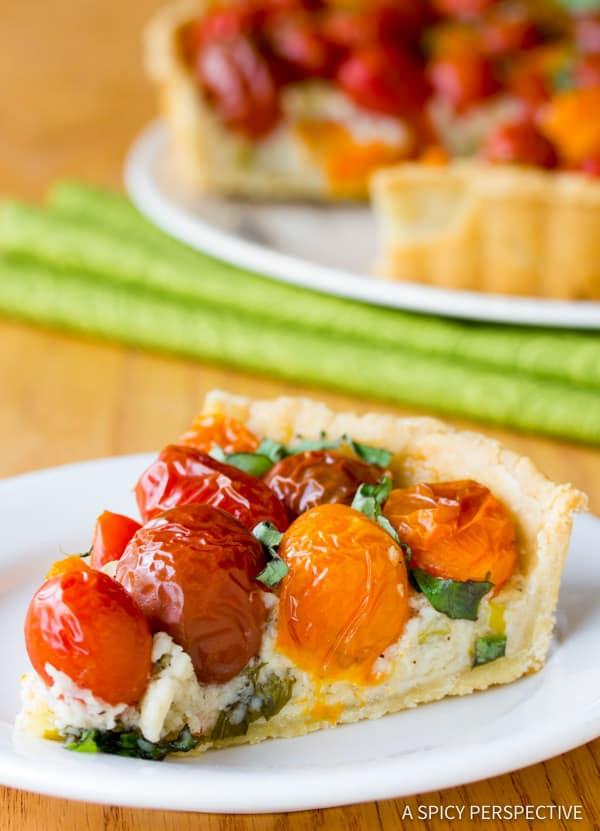 Heavenly Fresh Tomato Tart Recipe | ASpicyPerspective.com