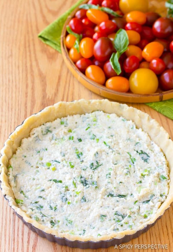 How To: Fresh Tomato Tart Recipe | ASpicyPerspective.com