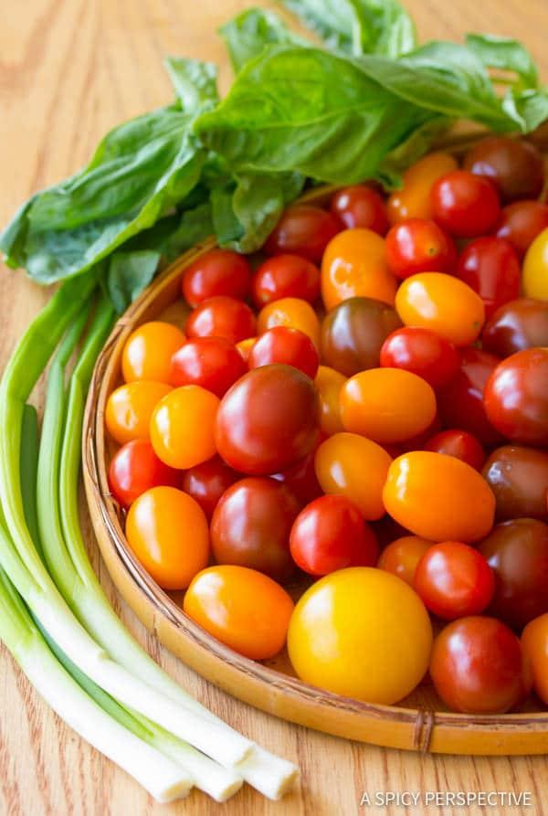 Best Fresh Tomato Tart Recipe | ASpicyPerspective.com
