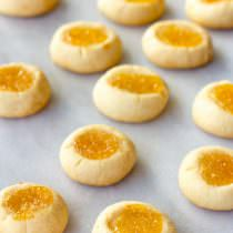 Lemon Drop Thumbprint Cookies Recipe | ASpicyPerspective.com
