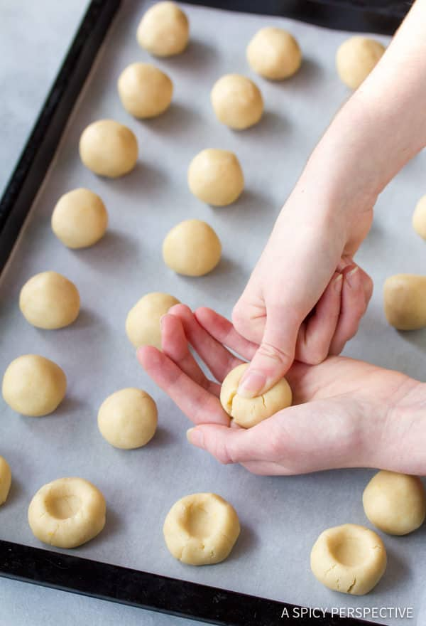How to Make Lemon Drop Thumbprint Cookies Recipe | ASpicyPerspective.com