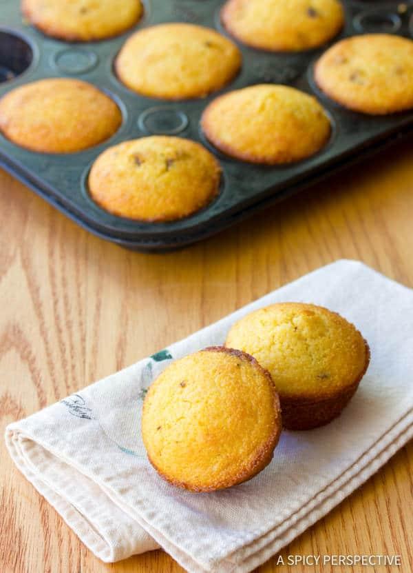 Best Maple Bacon Corn Muffins Recipe | ASpicyPerspective.com
