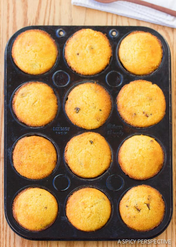 How to Make Maple Bacon Corn Muffins Recipe | ASpicyPerspective.com