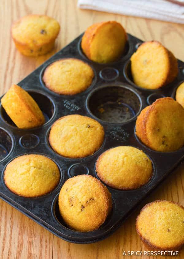 Dazzling Maple Bacon Corn Muffins Recipe | ASpicyPerspective.com
