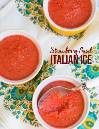 Amazing Strawberry Basil Italian Ice on ASpicyPerspective.com