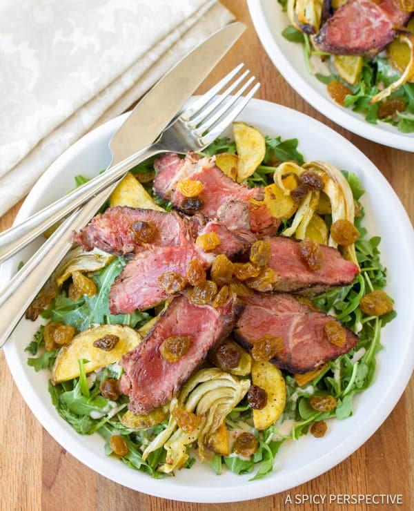 """The Man"" Steak Salad | ASpicyPerspective.com"