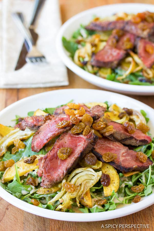 "Must-Make ""The Man"" Steak Salad (A Guy's Guy Salad!) 