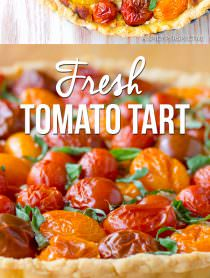 Perfect Southern Fresh Tomato Tart Recipe | ASpicyPerspective.com