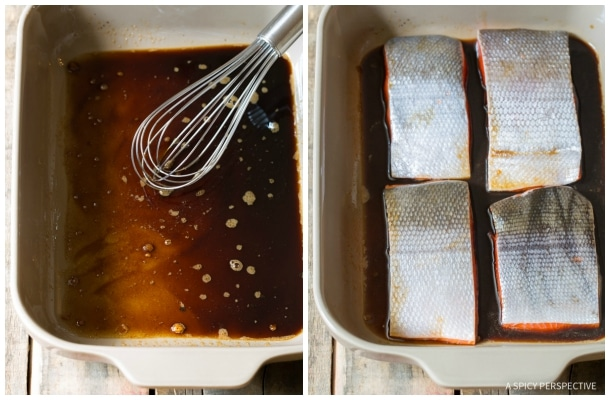 Making Candied Smoked Salmon Recipe with Flash Fried Ginger on ASpicyPerspective.com #salmon